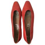 tweedehands Vintage Flache Schuhe