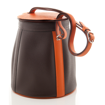 Tweedehands Hermès Paris Bruine Bucketbag