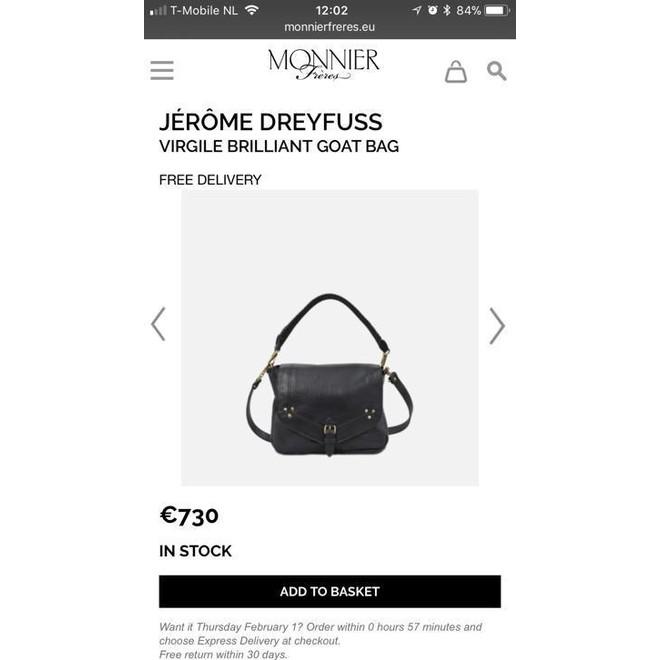 tweedehands Jerome Dreyfuss Schoudertas