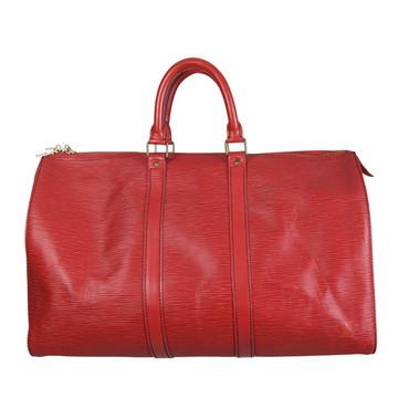 Tweedehands Louis Vuitton Keepall 45 red Epi