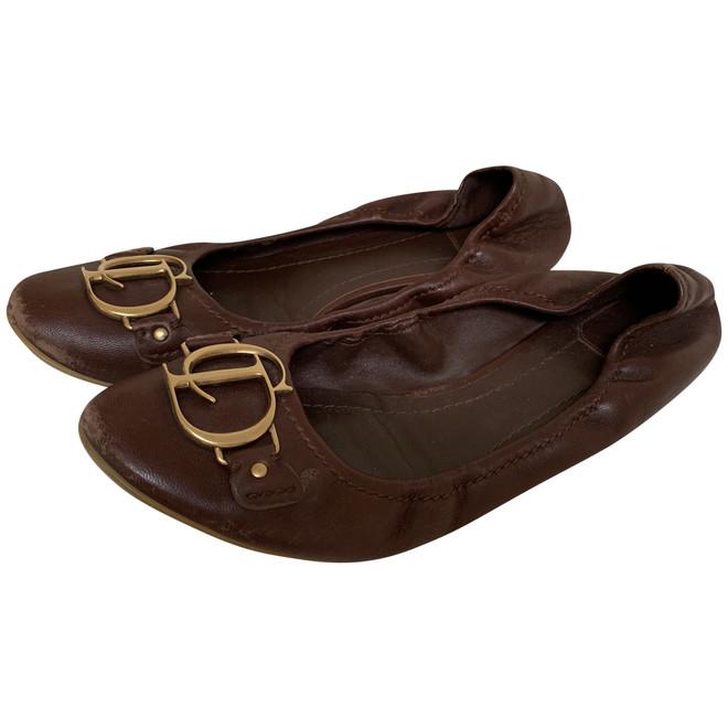 tweedehands Christian Dior Platte schoenen
