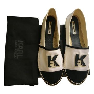 Tweedehands Karl Lagerfeld Flache Schuhe