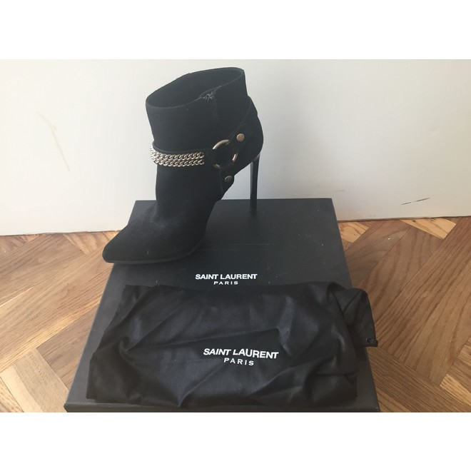 tweedehands Saint Laurent Paris Enkellaarzen