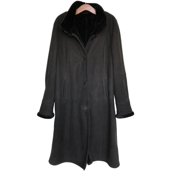 vintage jas met echte bontkraag | Kleding Online | 14154